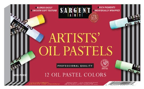 OIL PASTELS LARGE ASSORTED COLORS PQ.12