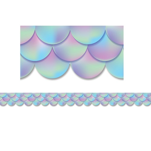 IRIDESCENT SCALLOPS BORDER