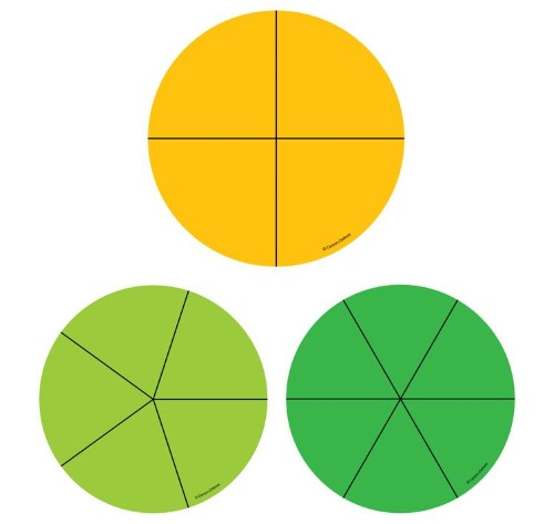 FRACTION CIRCLES CUT-OUTS 36 PC