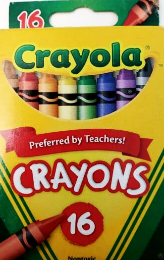 CRAYOLA CRAYONS ASSORTED COLORS PQ.16