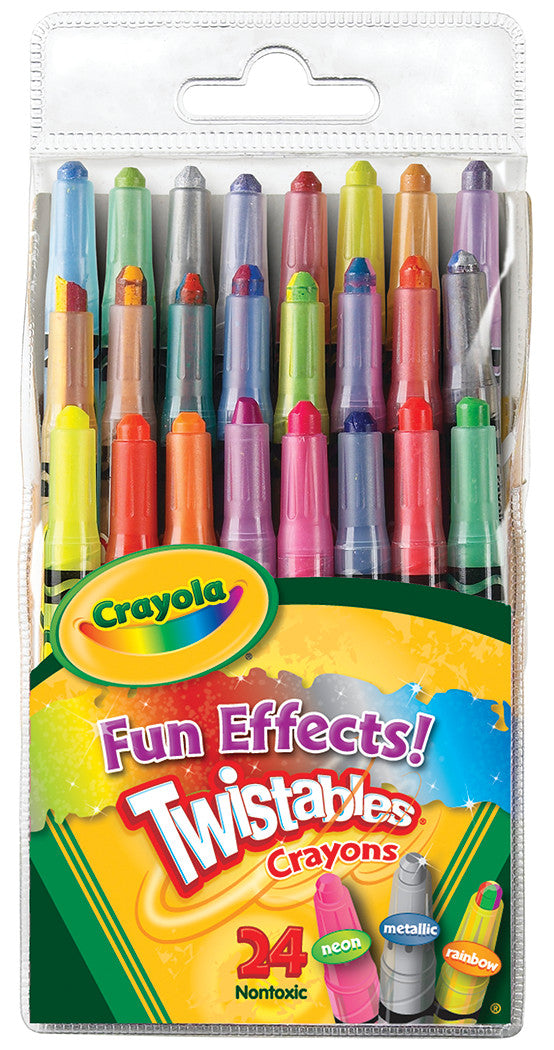 CRAYOLA TWISTABLES FUN EFFECTS! MINI CRAYONS PQ.24