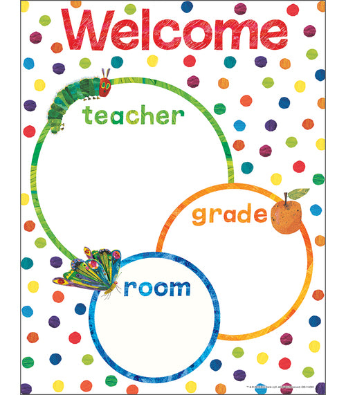 WORLD OF ERIC CARLE WELCOME CHART