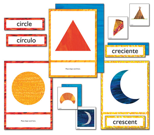 WORLD OF ERIC CARLE SHAPES LEARNING CARD