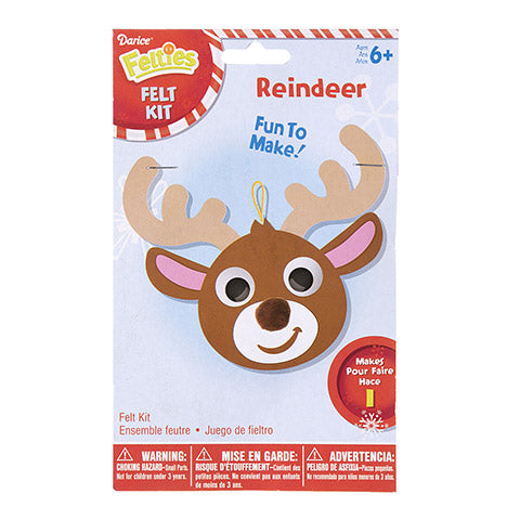 FELTIES® FELT REINDEER ORNAMENT CRAFT KIT