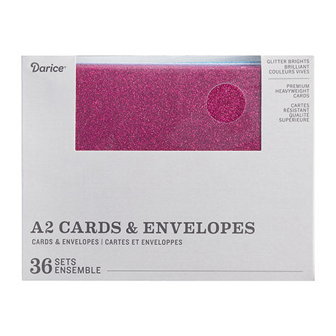 A2 CARD & ENVELOPE GLT 36 SET