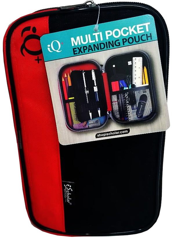 EXPANDING BINDER POUCH 2 POCKET W/PEN HOLDER