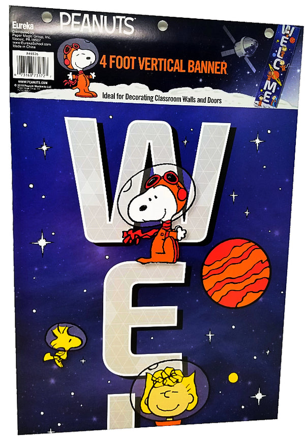PEANUTS® NASA WELCOME VERTICAL BANNER 12X45''