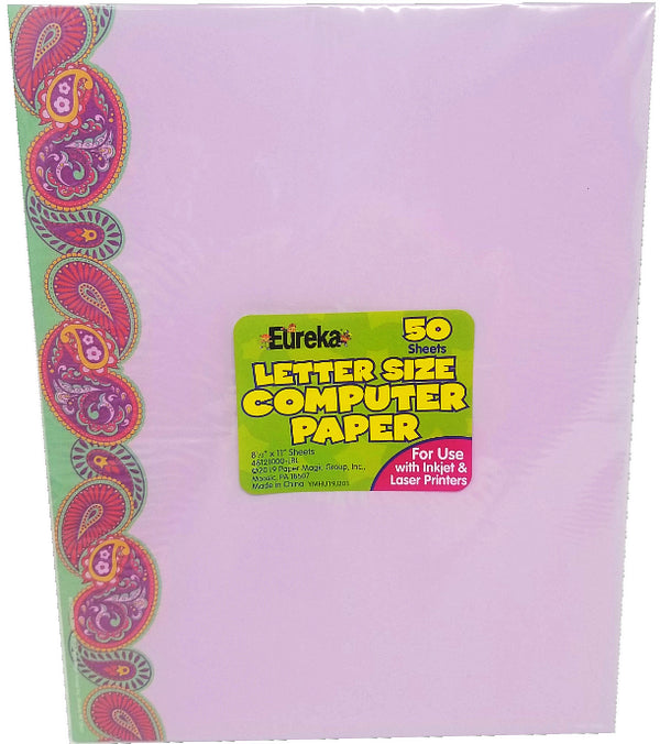POSITIVELY PAISLEY COMPUTER PAPER 50PK
