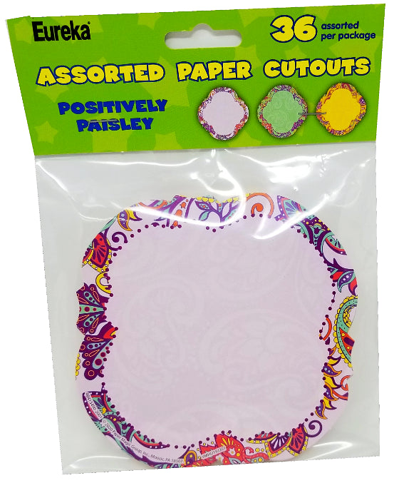 POSITIVELY PAISLEY PAPER CUT OUTS 36PK