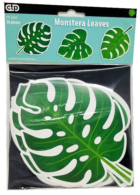 PALM PARADISE MONSTERA LEAVES CUT-OUTS 6IN 36PCS