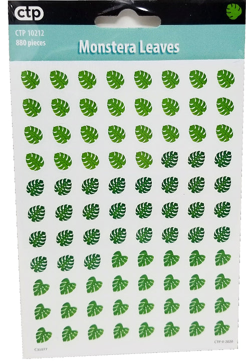 PALM PARADISE MONSTERA LEAVES SPOTS STICKERS 880