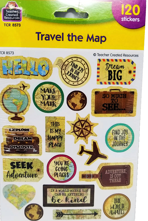 TRAVEL THE MAP STICKERS