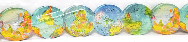 TRAVEL THE MAP GLOBES DIE-CUT BORDERS 35''
