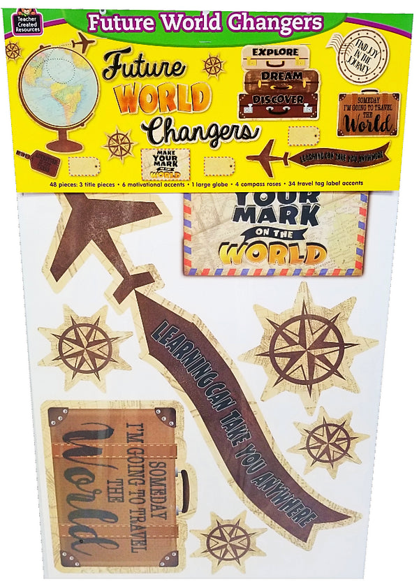 TRAVEL THE MAP FUTURE WORLD CHANGERS BULLETIN 34PC