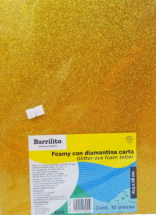 FOAMY CARTA DIAMANTINA ORO