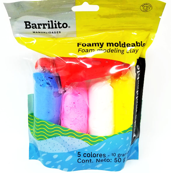 FOAMY MOLDEABLE MIXTO 5 COLORES