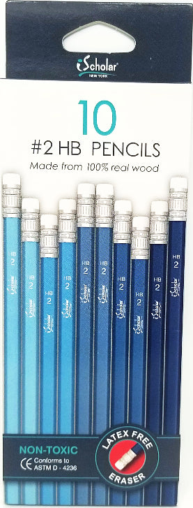 #2 HB PENCIL BLUE COLORS