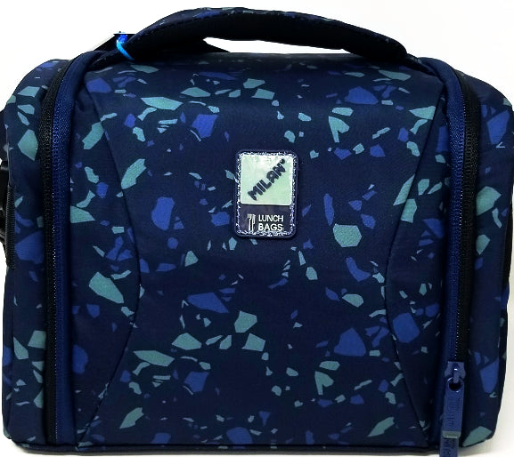 LUNCH BAG GALACTIC TERRAZO BLUE-NAVY BLUE