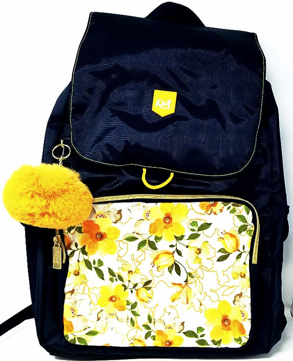 LARGE BACKPACK KIUT YELLOW FLOWER