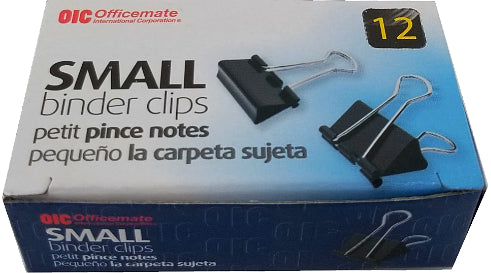 "BINDER CLIPS SMALL 3/4"" CJ.12"