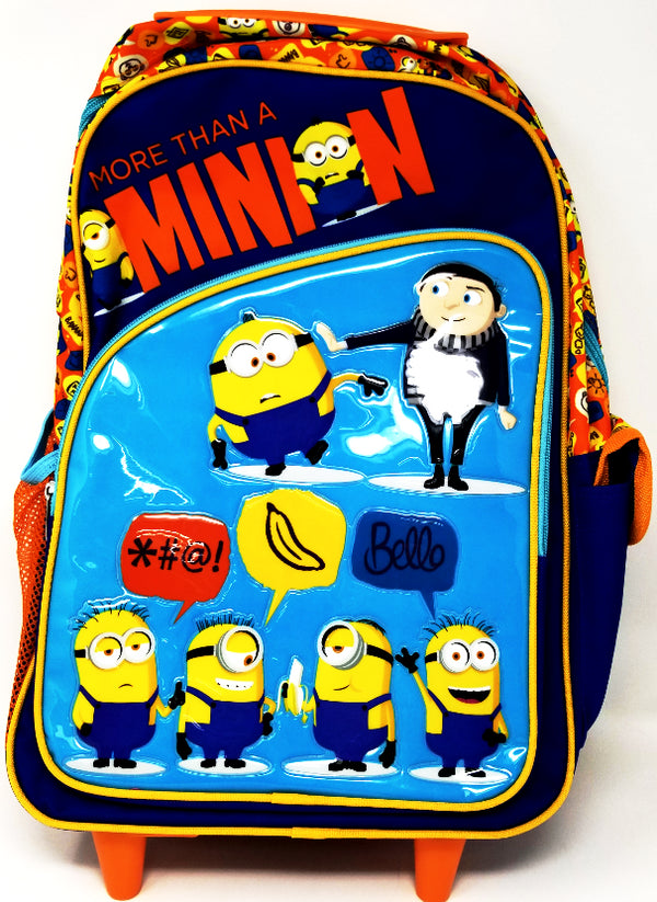 "ROLLING BACKPACK 17"" MINIONS 2"