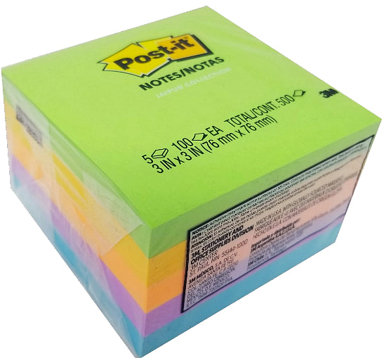 "POST IT NOTE ULTRA COLORS 3"" X 3"" PQ.5"