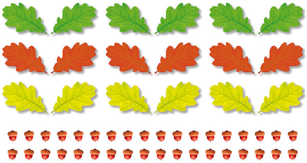 AUTUMN OAK LEAVES ACCENTS 48PCS