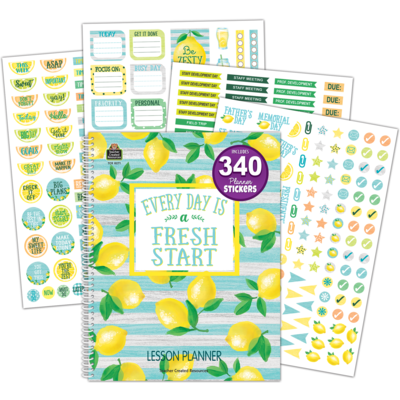 LEMON ZEST LESSON PLANNER 112 P