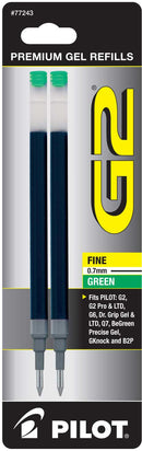REFILL GEL INK G2 FINE GREEN PQ.2