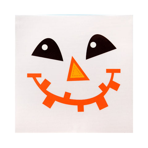 DECORATIVE FALL DECALS - SCARECROW FACE - 6 X 6 IN