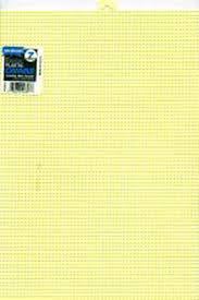 #7 MESH PLASTIC CANVAS - YELLOW