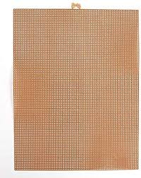 #7 MESH PLASTIC CANVAS - COPPER METALLIC