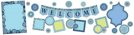 BLUE HARMONY WELCOME BULLETION BOARD SET