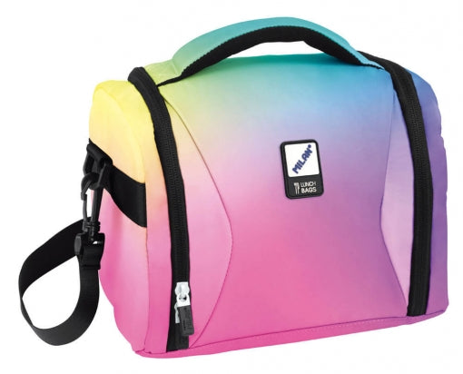 LUNCH BAG SUNSET PINK RAINBOW