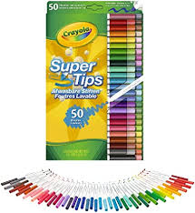 BS MARKERS SUPERTIPS 50-COLORS WASHABLE