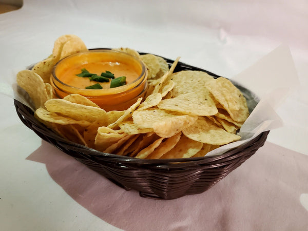 Cheesy Salsa + Chips