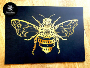 Gold Foiled Mr Barnabee A3