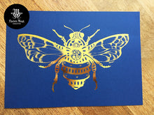 Load image into Gallery viewer, Gold and Blue Mr. Barnabee A4