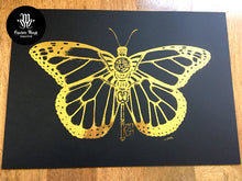 Load image into Gallery viewer, Gold foiled clockwork Monarch