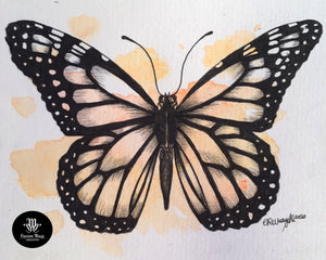 A splash of Monarch watercolour mini