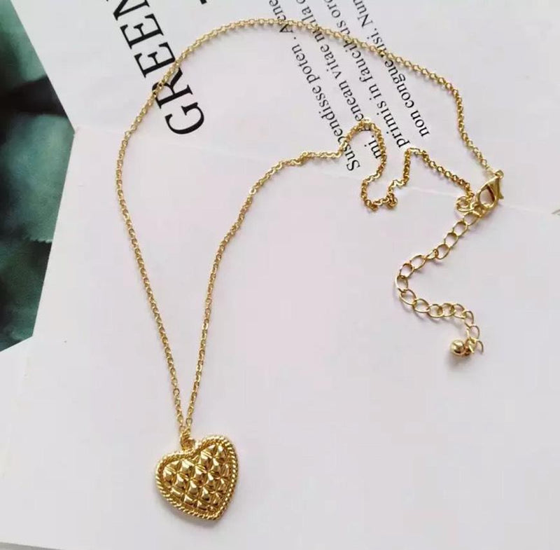 【即納】heart gold necklace