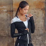 Running Sports Zipper Jacket With Hoodie