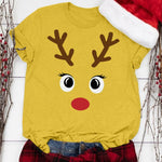 Cute Rudolph Casual T-shirt (Yellow)