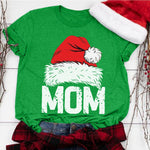 Casual Christmas Mom T-Shirt (Green)