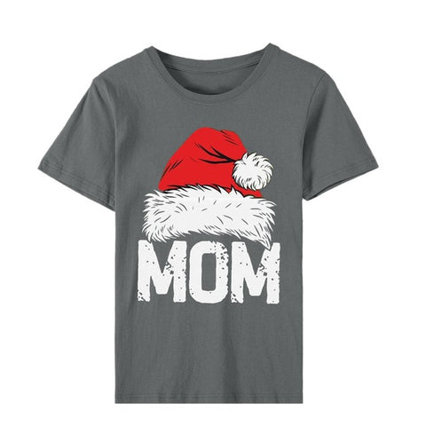 Casual Christmas Mom T-Shirt (Gray)