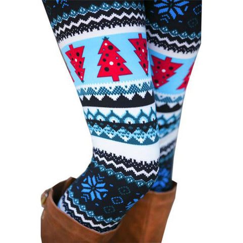 Winter The Print Leggings (Blue)