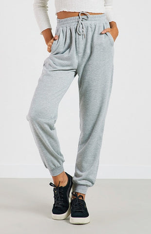 Joggers Black Casual High Waist Harem Sweatpants