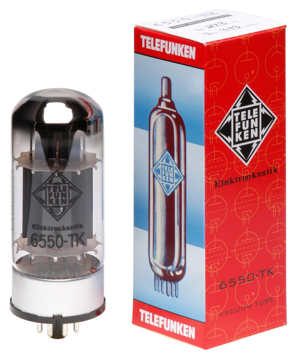 6550-TK Telefunken Black Diamond New Production Tubes Fuzz Audio