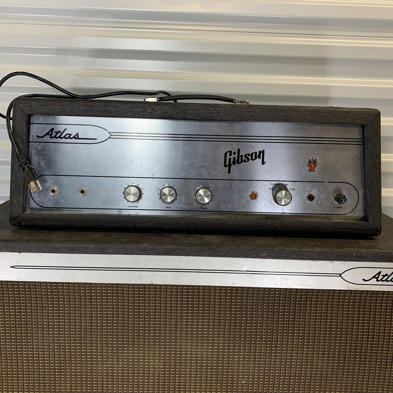 Gibson Atlas IV 1964 Head and Matching 1x15 Cab NOS Tubes Fuzz Audio