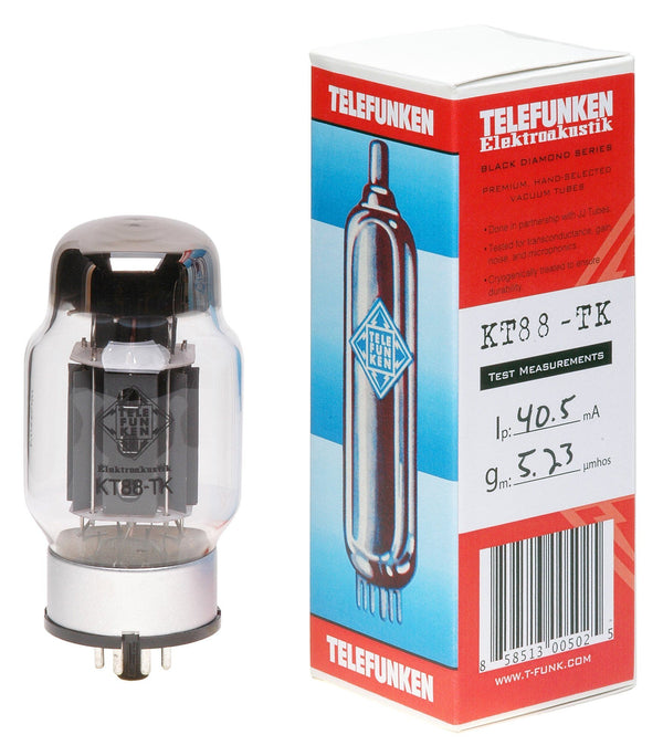 KT88-TK Telefunken Black Diamond New Production Tubes Fuzz Audio